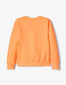 Sudadera Name it  #SQUAD  Naranja Kids Unisex