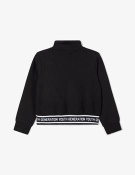 Sudadera Name It CROPPED Negra Kids Niña